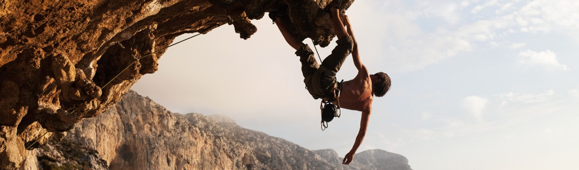 Banner Mountain Climber